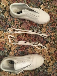 White vans size 8.5 in mens Mountain View, 94041