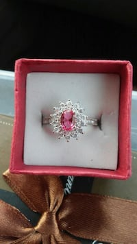 New silver & ruby ring size 5 & 7 Calgary, T1Y 2G5
