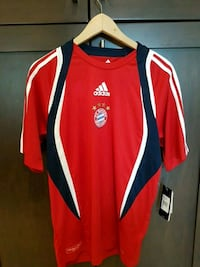red and white Adidas jersey Burnaby, V5E 3H1