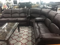 Reclining leather sectional  Elgin