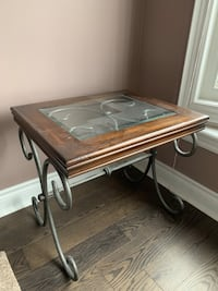 Wood and glass Side table
