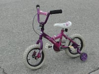 """LITTLE GIRLS 12"""" SC KIDZ WITH TRAINING WHEELS FIRST $40.00 TAKES IT!"""
