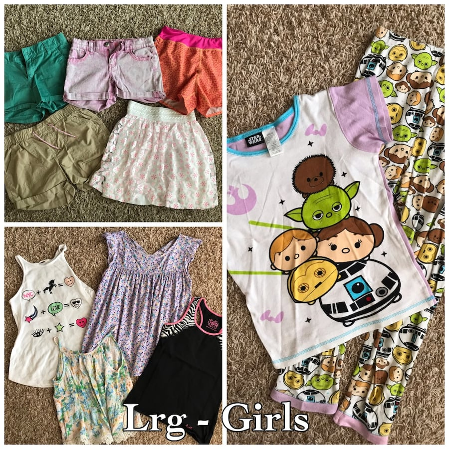 Girls size Lrg to XL clothing lot (Justice, Children's Place, H&M,etc)