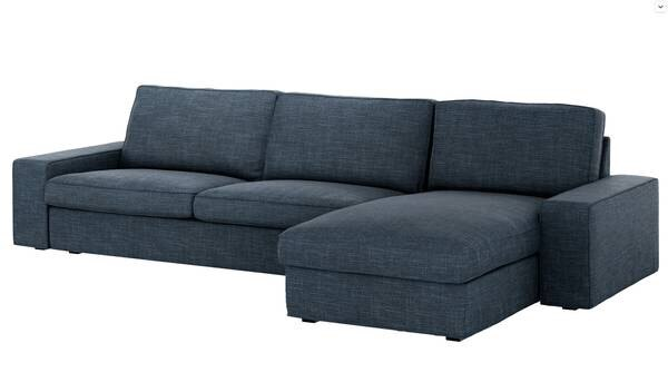 Used Kivik Sofa Sectional Couch Hillared w/chaise Dark Grey for sale ...