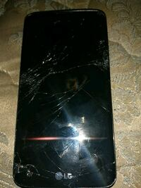 cracked black LG android smartphone Pensacola, 32501