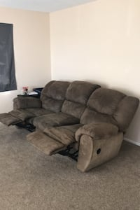 Suede Recliner Sofa