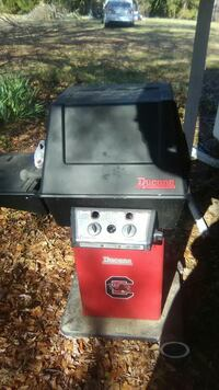 black and red Ducane grill