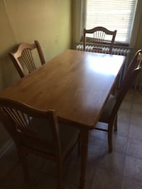 rectangular brown wooden table with six chairs dining set WESTORANGE