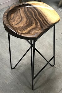 "Bar Stools Solid Teak Wood 2"" High Quality Strong Polyurethane Lacque."