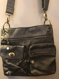 Charcoal grey over the shoulder purse. In season dark fall colors  Manassas, 20110