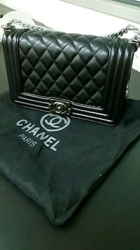 black leather Chanel tote bag null, 486154