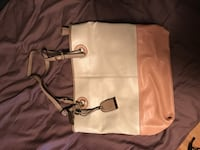 white and beige leather tote bag Calgary, T2J 3H8