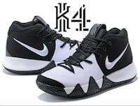 Kyrie 4 Oreo Classic Black and White LOSANGELES