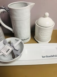 Kitchen décor brand new with tags $10 each or $30 for set