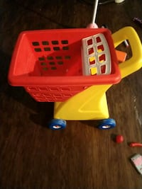 yellow and red plastic shopping cart toy Jacksonville, 32211