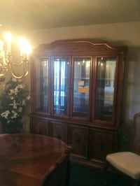 brown wooden china cabinet with glass Alexandria, 22309