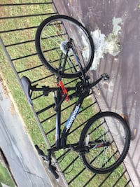 black and red hardtail mountain bike 56 km