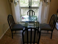 Dining table with four chairs College Station