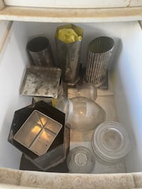 Candle making molds and storage drawers