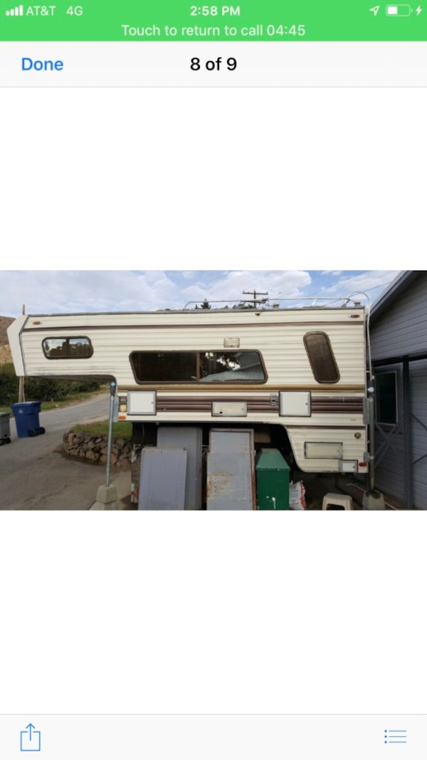 White and gray rv trailer