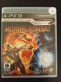 Mortal Kombat PS3 game case Vaughan, L4L