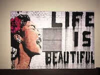 """Perfect Condition Hand Crafted Picture """"Life is Beautiful"""" Edmonton, T5H 3S3"""