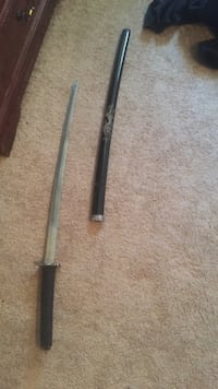 black handled katana with scabbard