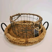 Wicker Tray and Basket