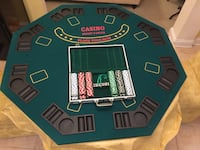 Poker table + chips Germantown, 20874
