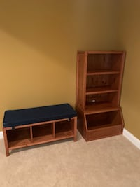 Bookcase, Toy Bin, Cube Bench and Bench Cushion West Friendship, 21794