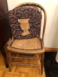 brown and black floral padded armchair Toronto, M6N 1R3
