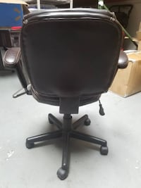 black leather office rolling armchair Los Angeles
