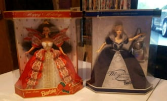 Vintage limited collectible barbies