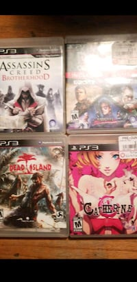 four assorted-title Sony ps3 games  San Antonio, 78214