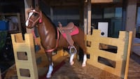brown and white rocking horse Depew, 14043