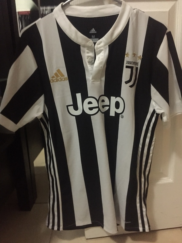 a132fe38d19 Used white and black Adidas Jeep striped jersey shirt for sale in Apopka -  letgo