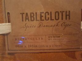 World Market  Table Cloth  60in x 108