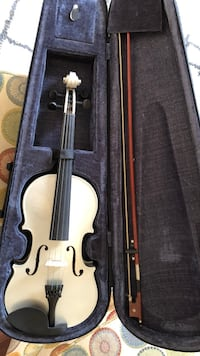 Silver violin with bow in case (case not included) Austell, 30106