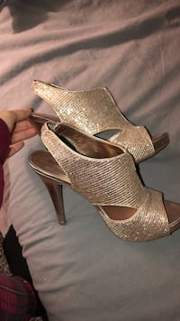 GOLD HEELS. From call it Spring Vaughan