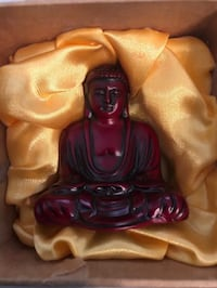 Red stone Buddha sculpture Rowland Heights, 91748