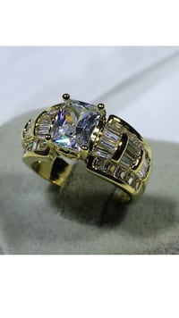 18k Gold Filled CZ Engagement Ring Size 7,10 Nashville