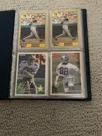 Barry bonds cards Topps and Michael Irvin signed text me for offer Stockton, 95219