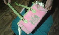 pink and green floral tote bag Burnaby, V5B