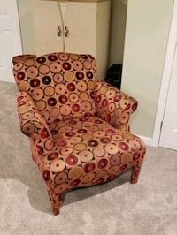 brown and red floral fabric sofa chair Bowie, 20720
