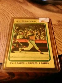 1973 A.L. playoffs A's vs. Orioles Watertown, 13601