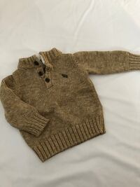 brown knitted button-up sweater Laval, H7T 2V6