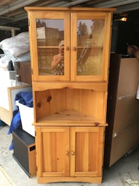 Solid wood Curio Corner Stand Burnaby