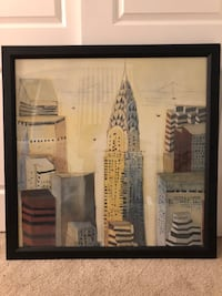 Framed Chrysler building print Santa Cruz, 95062