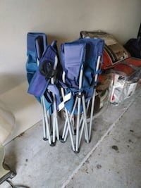 gray and blue folding camping chairs Houston, 77082