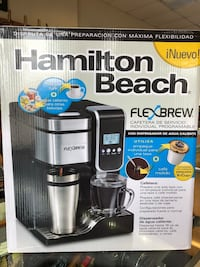 Hamilton Beach flex brew. Uses K cups or coffee grounds. Cashbox price is only $60. Shop locally! Tucson, 85712